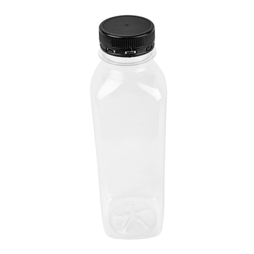 Square PET bottle 500ml 60x60x195mm with HDPE Lid 126 pcs