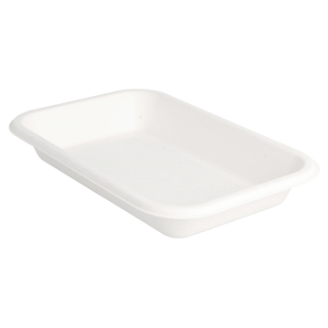 Trays in White Bagasse 350ml 180x120x25mm 600pcs