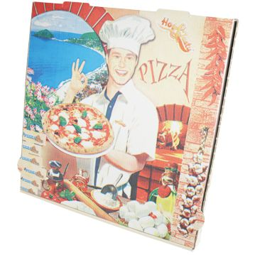 Pizza Box with Standard Printing France Model 240x240x40mm Box 100