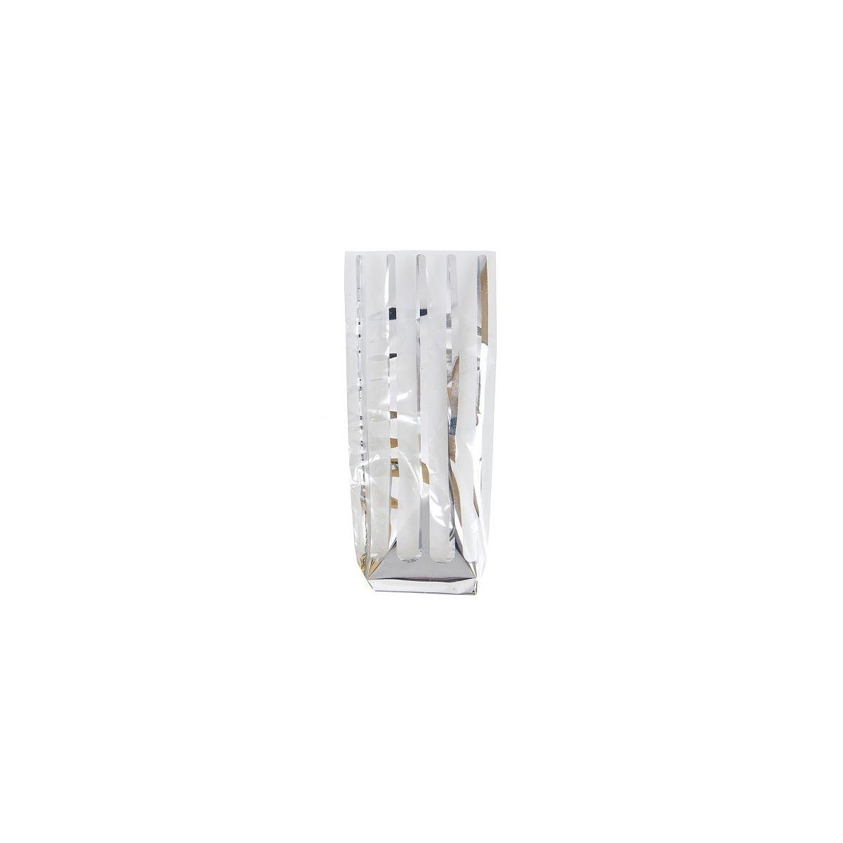 2e5df131a Saqueta de Celofane Transparente com Riscas Prateadas 140x305mm 100un